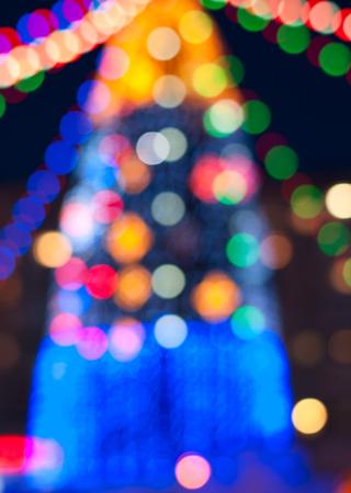 dof: Christmas tree background. Shallow Dof
