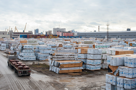 building materials: Storage in the open air building materials