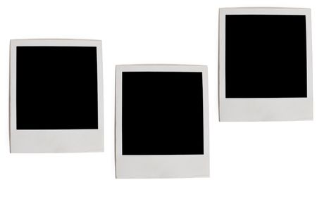 three photo frames isolated on white background photo