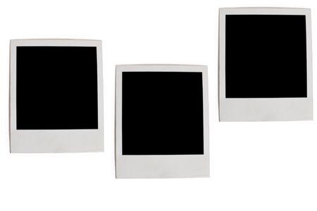 three photo frames isolated on white background Stock Photo - 5550378