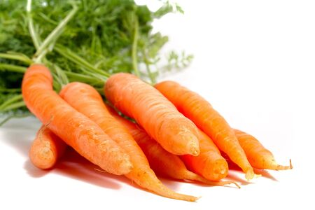 few: few carrots isolated on white