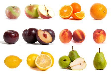 Collage mit verschiedene Arten von Früchte Standard-Bild - 5856939