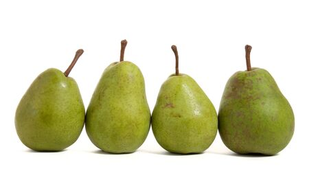 four pears isolated on white photo