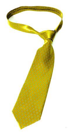 gold necktie isolated on white background Stock Photo