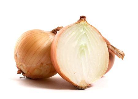 Zwiebel isoliert auf weißem Hintergrund Standard-Bild - 6026153