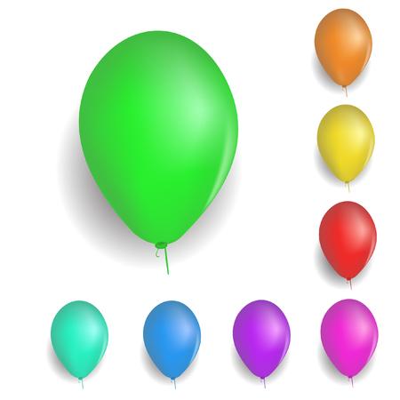 colorful balloons. vector Stock Vector - 6063079
