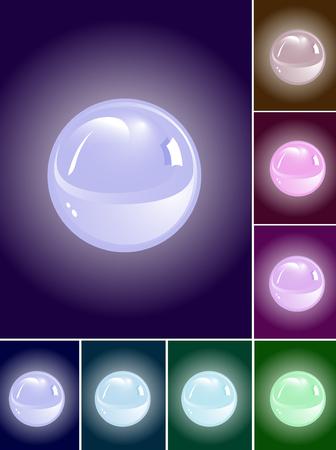 threateningly: set of vector blue spheres Illustration