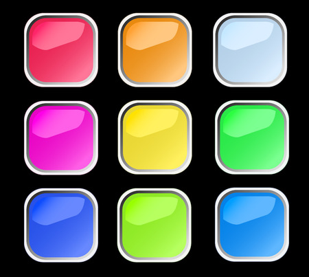 Web shiny buttons. Vector illustration Stock Vector - 6063106