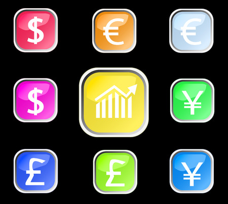 set of forex buttons. Vector Vector