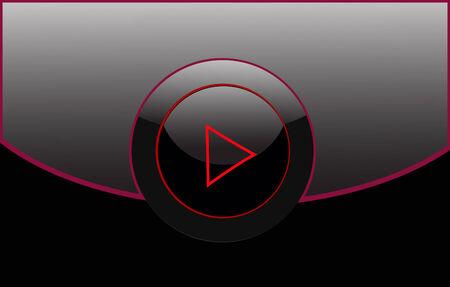 black play button Stock Vector - 6063109