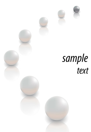 pearls on white backgrounds Stock Vector - 6063116
