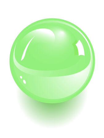 threateningly: green sphere isolated on white