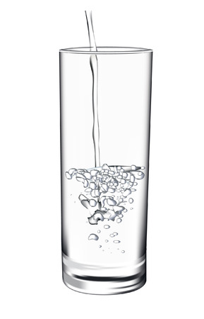 pour: glass of water Illustration