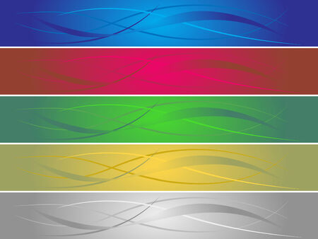 wawe: set of vector colorful banners