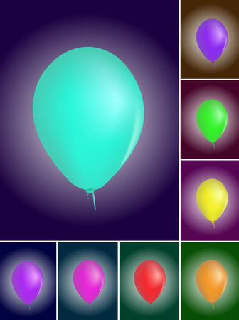 Vector realistic colorful balloons Stock Vector - 6208721
