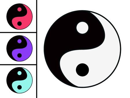 esoterik: Eastern symbol of harmony. yin yang