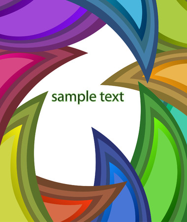 Colorful design with text frame Stock Vector - 6208703