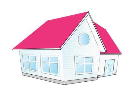row of houses: Ilustraci�n vectorial de casa. icono