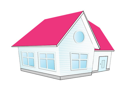 Vector Illustration of house. icon Vector