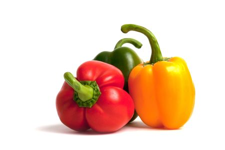 fresh peppers isolated on white background photo