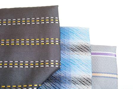 Silk ties isolated on white Stock Photo - 6324305
