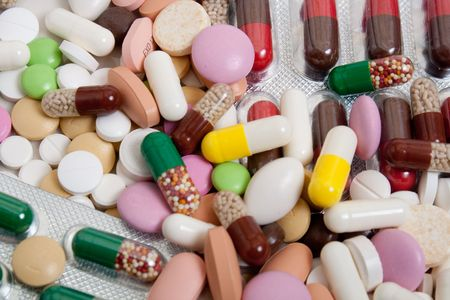 planty of different colorful pills Stock Photo - 6324317