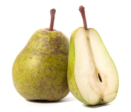 pears isolated on white background photo