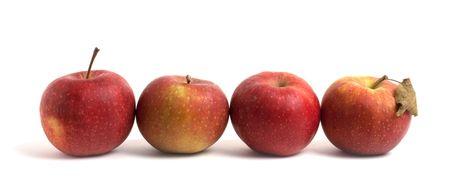 fresh apples isolated on white background Stock Photo