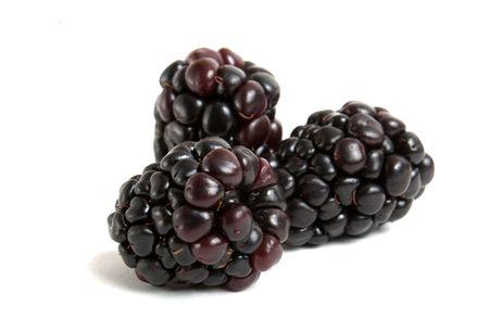 BlackBerry auf weiß isoliert Standard-Bild - 6382989