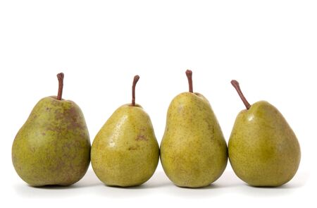 four pears isolated on white Stock Photo - 6758725
