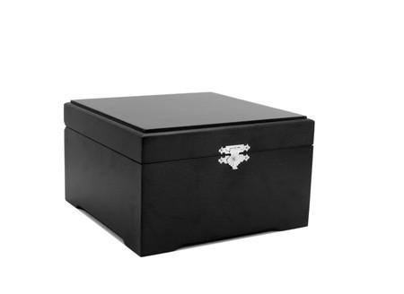 old black box isolated on white background Stock Photo - 7810077