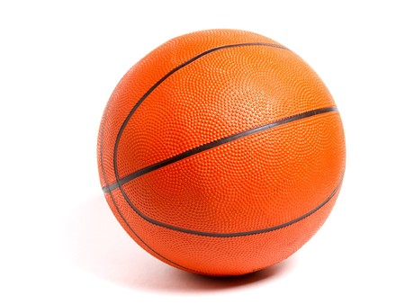 rubber ball: basketball ball isolated on white