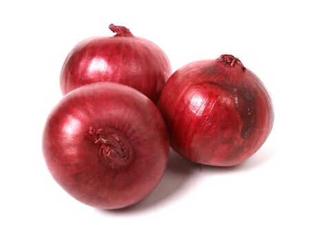 smack: red onion isolated on white