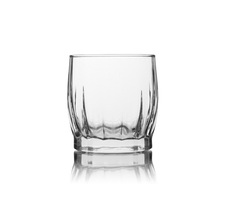 oldfashion glass on white background