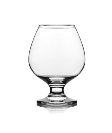 snifter: snifter glass on white background Stock Photo