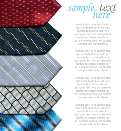 in men's shirt: ties isolated on white background