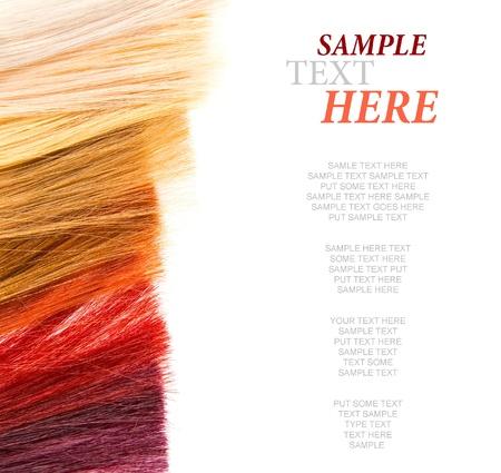 texture capelli: serrature tinta di capelli su bianco