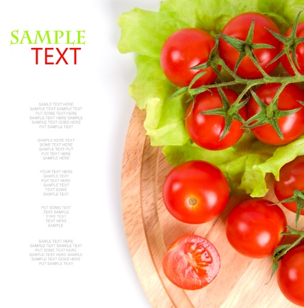 fresh tomatoes on wooden board Stock Photo - 11578143