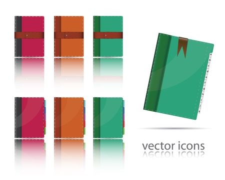 set of organizer icons.  Vector