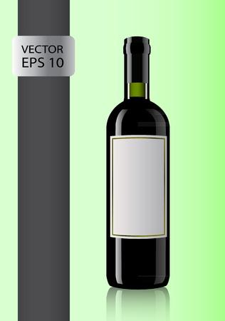 bottle of wine. illustration Vector