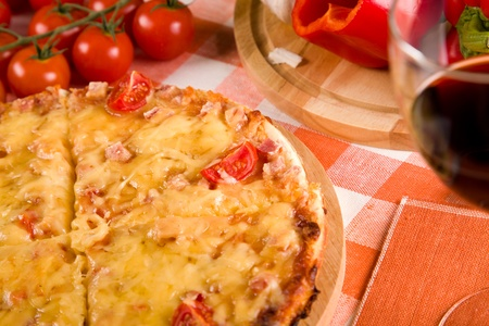 pizza and vegetables on the table Stock Photo - 11658968