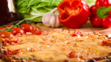 sliced pizza and vegetables Stock Photo - 11658334