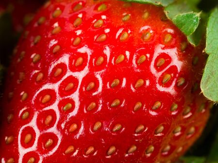 Extreme macro of strawberry texture -background photo