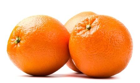 three oranges isolated on white background Stockfoto