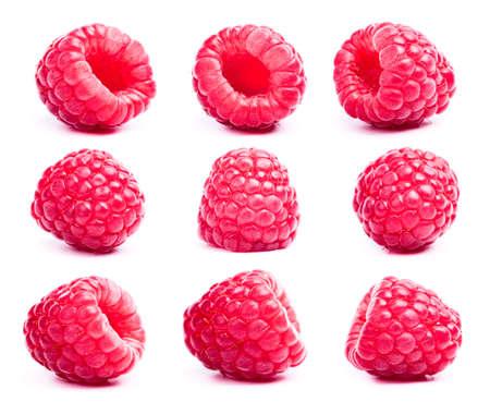 raspberries: raspberries isolated on white background