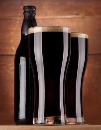 glasses of fresh dark beer Stock Photo - 12185506