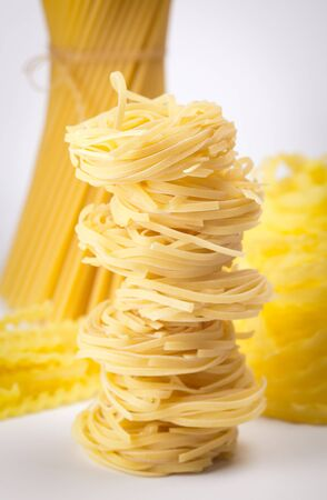 different sorts of noodle and pasta  selective focus Stock Photo - 14327929