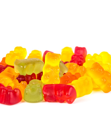 yelloow: colorful bears gum isolated on white