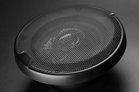 sub woofer: black audio speaker for car