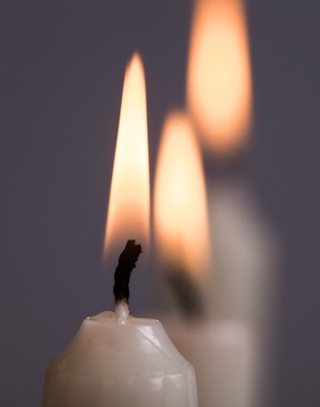 vigil: burning candles